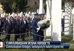 Cumhurbaşkanı Erdoğandan İzetbegoviçin kabrine ziyaret