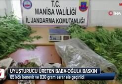 Uyuşturucu üreten baba-oğula jandarma baskını