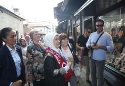 Emine Erdoğan Saraybosnadaki tarihi Başçarşı'yı gezdi