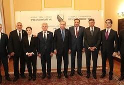 Cumhurbaşkanı Erdoğan, Bosna Hersek'te heyet başkanları onuruna verilen yemeğe katıldı