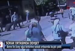 Üvey annesini sokak ortasında bıçakladı
