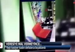 Yaşlı kasiyer kadın defalarca bıçaklandı