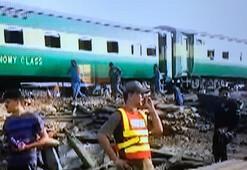 Pakistanda trenler çarpıştı
