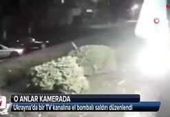 Ukrayna'da bir TV kanalına el bombalı saldırı düzenlendi
