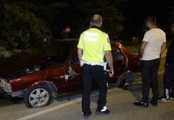 Kaza yapan otomobilin sürücüsü bulunamadı