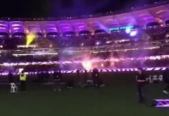 Manchester United maçı öncesi ses getiren gösteri