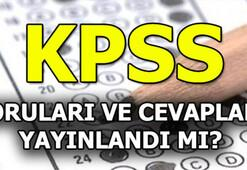 KPSS soru ve cevapları yayımlandı mı 2019 KPSS sınav sonuç tarihi